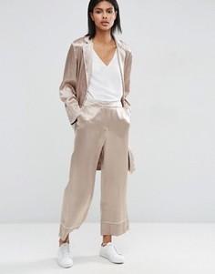 Широкие брюки ASOS - Бежевый