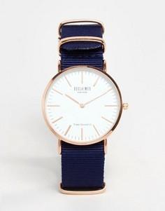 Часы с синим парусиновым ремешком Reclaimed Vintage - Синий