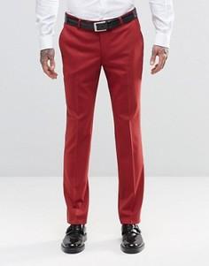 Супероблегающие стретчевые брюки Noose & Monkey - Красный
