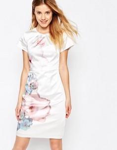 Платье с цветами сакуры Uttam Boutique - Кремовый