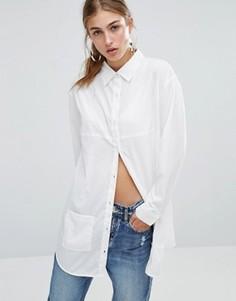 Длинная рубашка с карманами Daisy Street - Белый