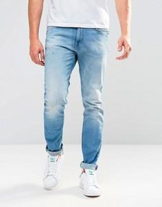 Голубые зауженные джинсы Lee Luke - Синий
