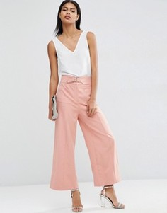 Широкие брюки с пряжкой ASOS - Розовый