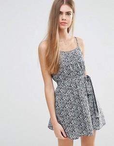 Платье с цветочным принтом и поясом Jack Wills - Темно-синий