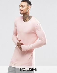 Длинный лонгслив Underated - Розовый