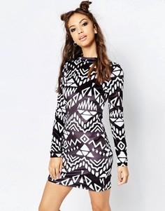 Черно-белое платье Jaded London - Черный