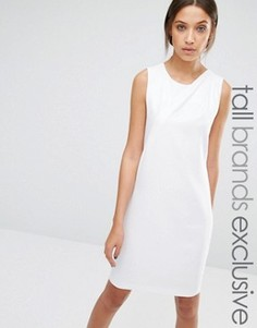 Платье без рукавов со складкой спереди Y.A.S Tall Alberte - Кремовый