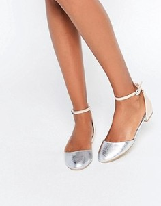 Туфли на плоской подошве с отделкой Miss KG Mindy - Бежевый