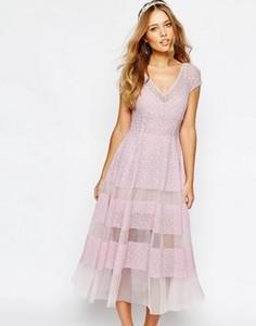 Платье-тюльпан Body Frock Wedding - Фиолетовый