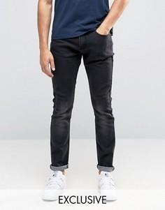 Выбеленные черные джинсы скинни Liquor & Poker - Черный