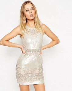 Декорированное платье мини с переливающимся эффектом Needle & Thread - Мульти