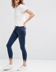 Темные облегающие джинсы скинни ASOS LISBON - Синий
