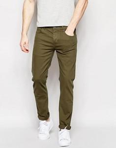 Стретчевые джинсы слим цвета хаки ASOS - Зеленый