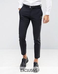 Зауженные стретчевые брюки Only & Sons - Черный