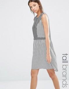 Платье в клетку Y.A.S Tall Malou - Белый