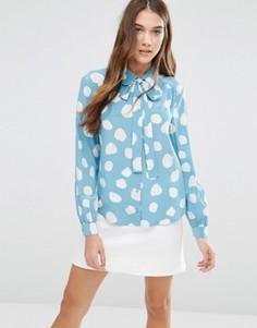 Рубашка с узором YMC - Синий