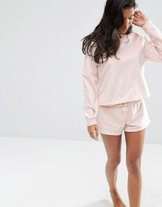 Трикотажные шорты ASOS LOUNGE - Розовый