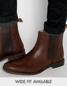 Кожаные ботинки челси ASOS - Доступна модель для широкой стопы - Коричневый