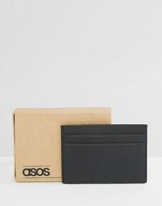 Кожаная черная визитница ASOS - Черный