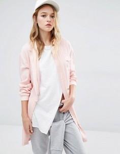 Длинный бомбер с карманами Daisy Street - Розовый
