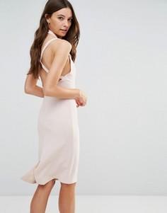 Платье-футляр Love - Розовый