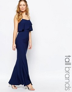 Платье макси с накладкой Jarlo Tall - Темно-синий