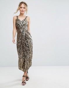 Платье миди с принтом VLabel Kitsch - Мульти
