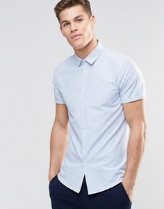 Полосатая рубашка с короткими рукавами ASOS - Синий