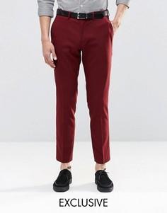 Зауженные стретчевые брюки Only & Sons - Красный