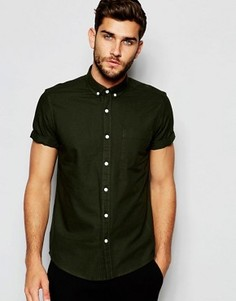 Оксфордская рубашка цвета хаки классического кроя ASOS - Зеленый