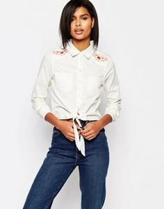 Рубашка с вышивкой в стиле вестерн Vero Moda - Белый