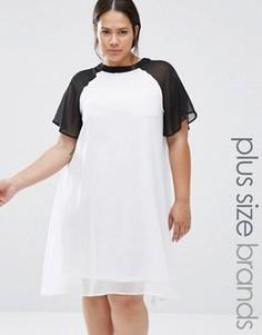 Свободное платье в стиле колор блок Praslin Plus - Белый