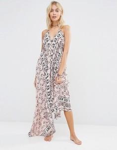 Платье макси с платочным принтом Surf Gypsy - Мульти