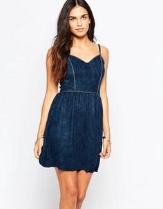 Платье из искусственной замши Goldie Sadie - Темно-синий