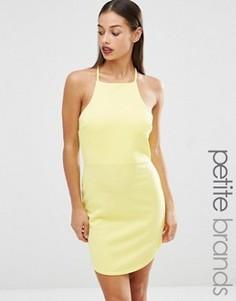 Облегающее платье с высоким воротом Boohoo Petite - Желтый
