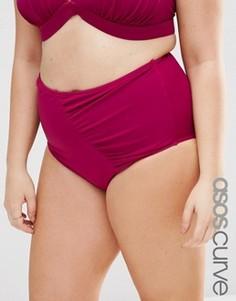Плавки бикини с завышенной талией ASOS CURVE Mix & Match - Фиолетовый
