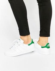 Бело-зеленые кроссовки унисекс adidas Originals Stan Smith - Белый