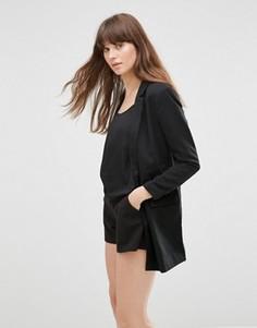 Длинный черный пиджак Vero Moda Noah - Черный