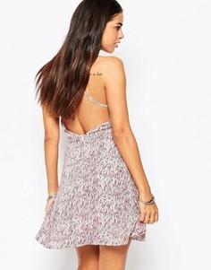 Платье с открытой спиной Goldie Switch Off - Мульти