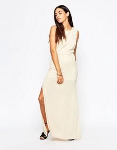 Платье макси Goldie - Бежевый