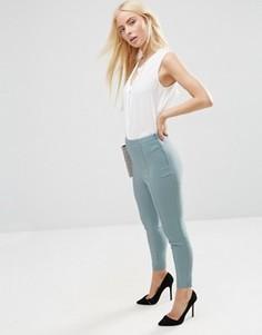 Укороченные зауженные брюки ASOS - Зеленый
