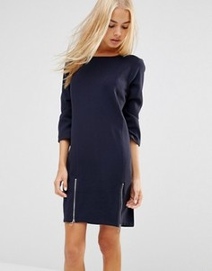 Цельнокройное платье с молниями сбоку Soaked In Luxury - Синий
