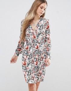 Чайное платье с цветочным принтом Pepe Jeans Aris - Мульти