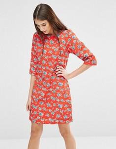 Платье с цветочным принтом Trollied Dolly Gift Of A Shift - Оранжевый