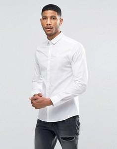 Стретчевая рубашка зауженного кроя SikSilk - Белый