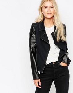 Байкерская куртка Blend She - Черный