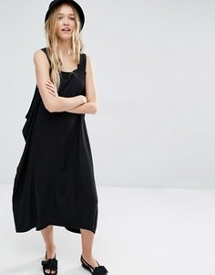 Платье с отделкой по бокам Weekday - Черный