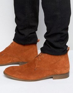 Светло-коричневые замшевые ботинки с натуральной подошвой ASOS - Рыжий
