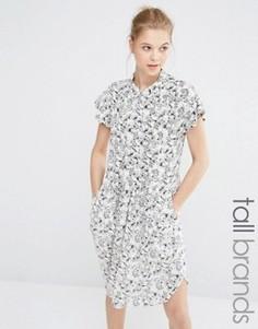 Платье с цветочным принтом Y.A.S Tall - Белый