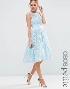 Кружевное платье миди для выпускного ASOS PETITE SALON - Синий